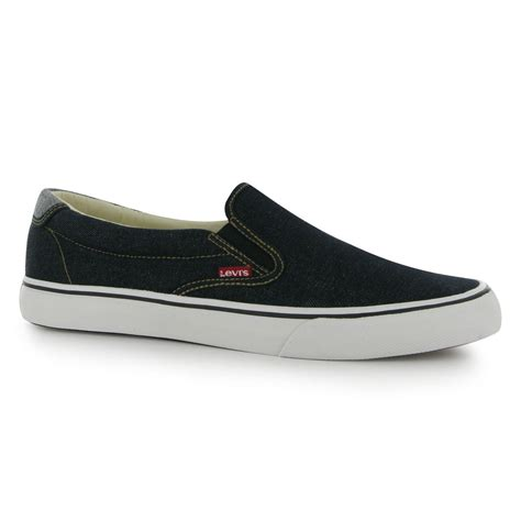 Levis Slip On levis tab slip on canvas shoes mens gents ebay