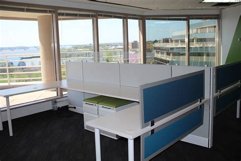 Benching Style Workstations Allow Great Views Of Potomac Used Office Furniture Alexandria Va