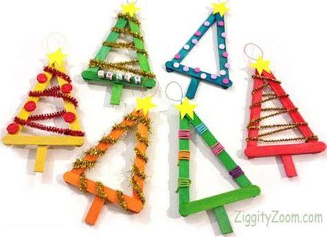 5 adornos de navidad con palitos de helado pequeocio
