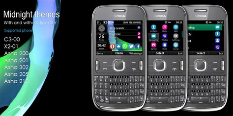 nokia asha phone themes download midnight theme for nokia asha 302 320x240 s406th wb7themes