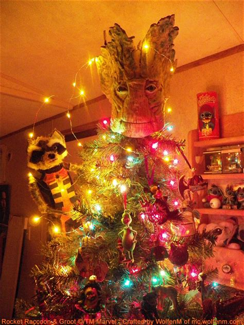 custom guardians of galaxy tree topper turns christmas