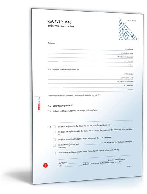 Schweizer Musterbrief Kaufvertrag Allgemein Zwischen Privatleuten