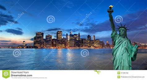 paysage urbain de new york et statue de la libert 233 etats