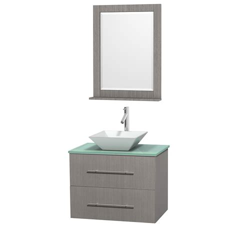 Green Glass Vanity by Wyndham Collection Wcvw00930sgoggd2wm24 Centra 30 Inch