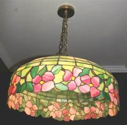 antique stained glass chandelier antique stained leaded glass hanging l ceiling