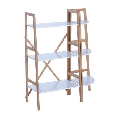 scaffale legno componibile homcom scaffale a 3 ripiani componibile stile industrial