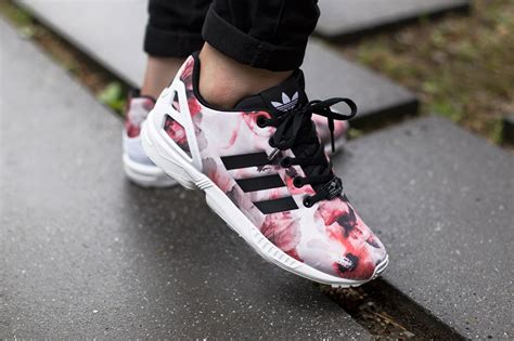 Adidas Zx Flux adidas zx flux floral print sneakers madame