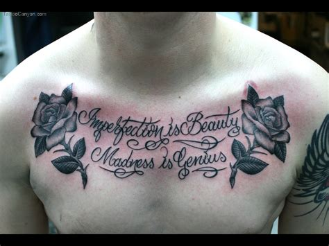 Chest Script Tattoo Quotes Quotesgram Chest Quote Tattoos For