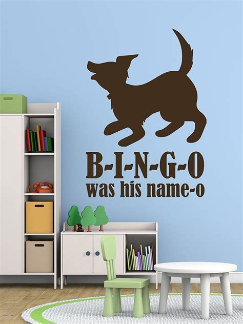 Nursery Rhyme Wall Decals Nursery Rhyme Wall Decals B I N G O Bingo Song Customvinyldecor