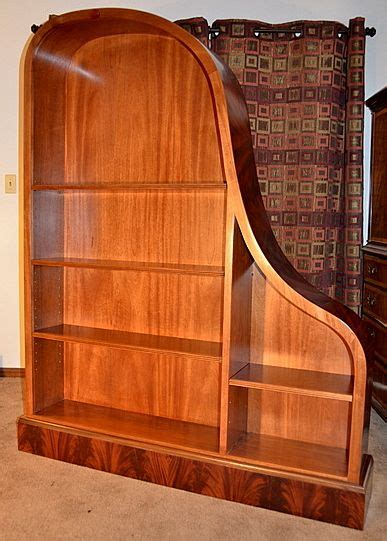 mahogany baby grand piano bookcase brillant upcycled