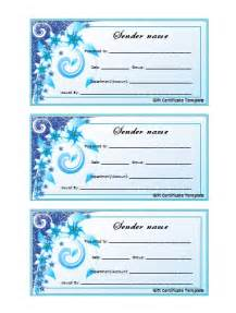 Free Gift Certificate Templates by Free Printable Certificate Templates For Gifts For
