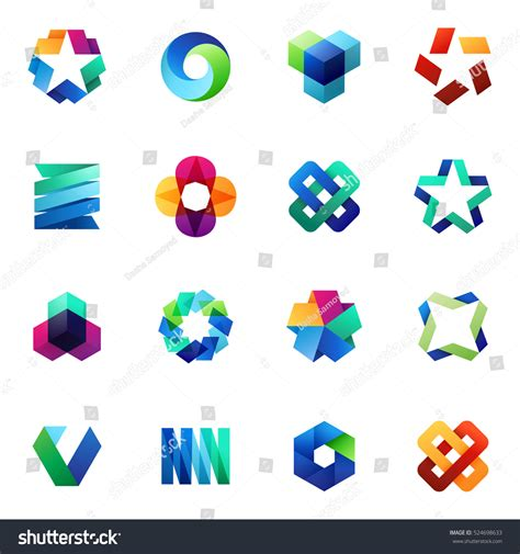 modern design elements big set modern icon design elements stock vector 524698633