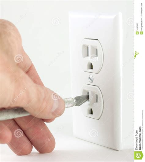 knife outlet craft knife in electrical outlet stock photography image