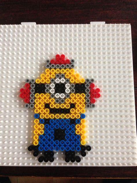 bead by bead minion hama perler by dorte marker minionparty