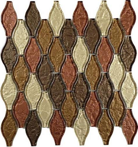 Kitchen Mosaic Backsplash Ideas Mirage Glazzio Sgs73 Seagull Series Copper Back Mosaic