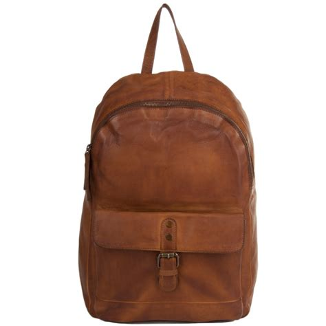 backpack sofa unisex leather vintage wash backpack rust 1331