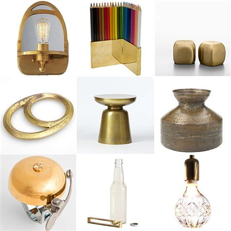 brass home decor best brass decor accents popsugar home