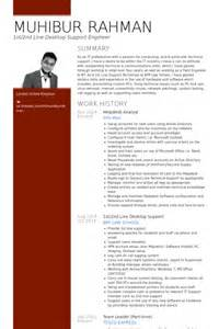 Desktop Support Engineer Resume Sles by Sle Desktop Technician Resume