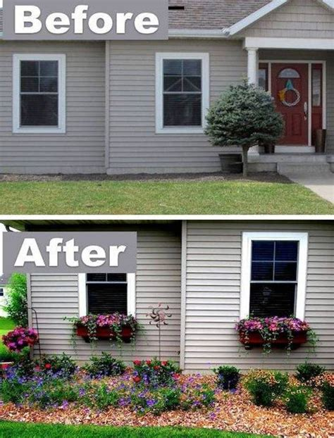 easy window boxes home decor before and after 15 easy curb appeal ideas