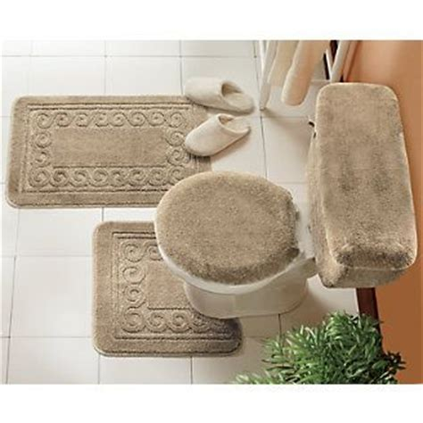 5 piece bathroom rug set 5 piece scroll bath rug set a bathroom pinterest