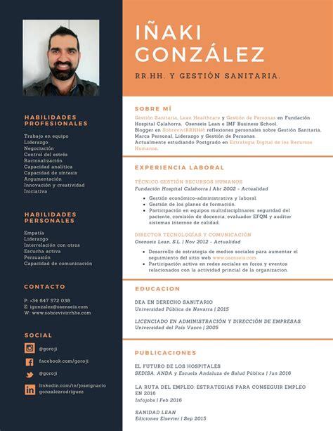 Cv Canevas by C 243 Mo Crear Tu Propio Cv Con Canva El De I 241 Aki Gonz 225
