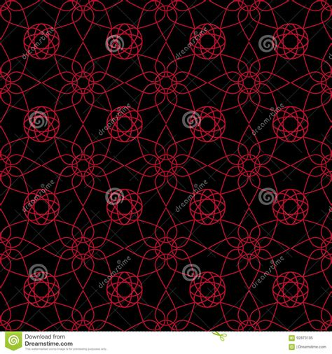 flowers seamless pattern element vector background seamless pattern with flower element red and black