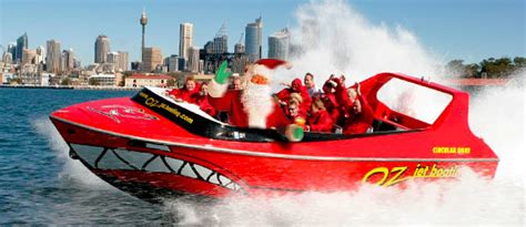 awesome christmas party fun oz jet boating sydney harbour
