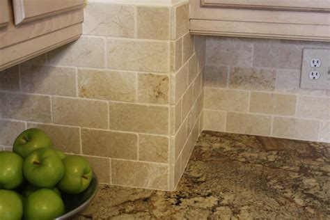 stone subway tile backsplash 1000 images about backsplashes on pinterest white