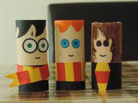 easy harry potter crafts for harry potter toilet rolls my kid craft