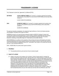 brand licensing agreement template trademark license agreement template sle form