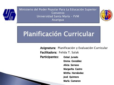 Modelo Curricular De Johnson Planificacion Curricular