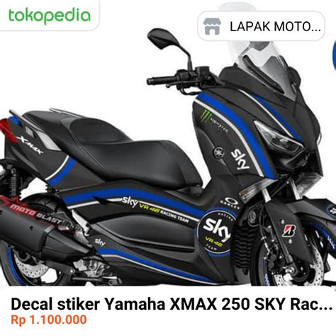 jual decal stiker yamaha xmax  sky racing full stiker
