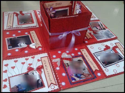 Handmade Explosion Box - lina s handmade cards exploding box for 1st anniversary