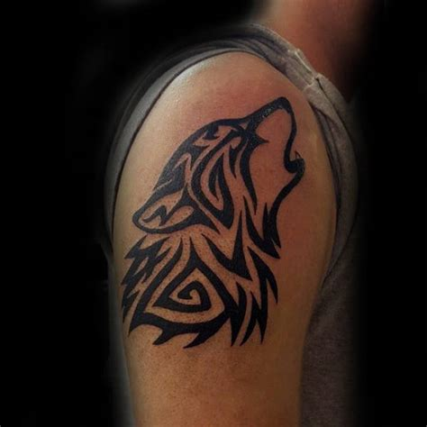 tribal wolf tattoos for men 50 tribal wolf designs for canine ink ideas