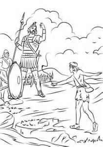 ausmalbild david gegen goliath kostenlos