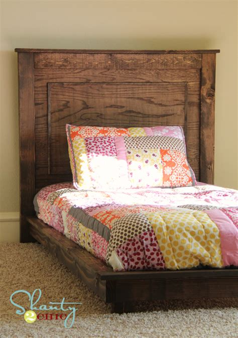 Handmade Toddler Bed - white fillman platform headboard diy projects