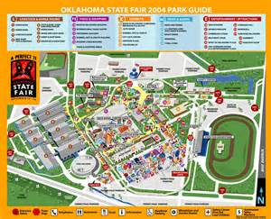 Wisconsin State Fair Map by Oklahoma Arabian Horse Club Maps