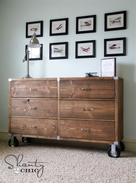 diy furniture wood dresser with wheels shanty 2 chic