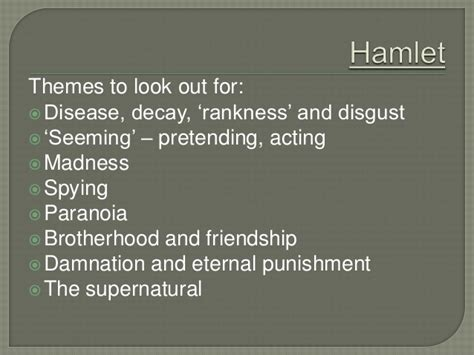 themes reflected in hamlet introduction to hamlet with exercises on act one scenes