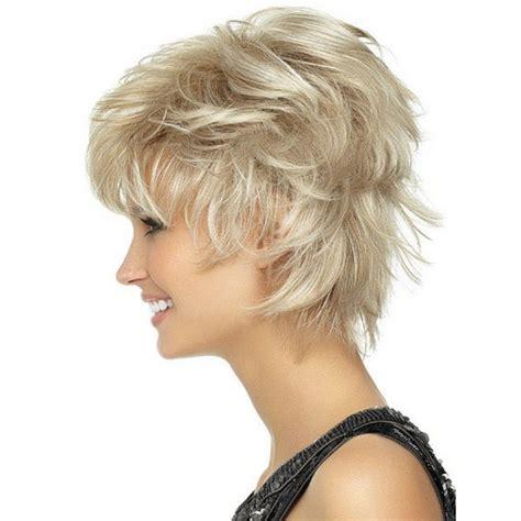 spike short wigs for women over 60 wigs for women over 50 spiky playful short shag