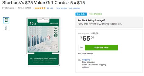Sam S Club Directv Gift Card Offer - expired sam s club 5 15 starbucks giftcards 75 for 65 doctor of credit