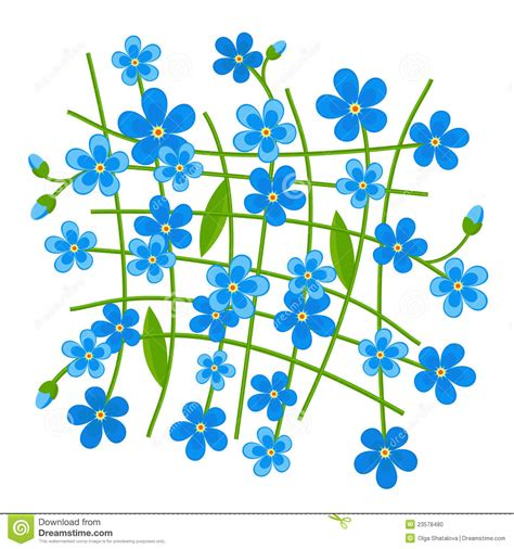 svg pattern not showing forget me not pattern stock vector illustration of blue