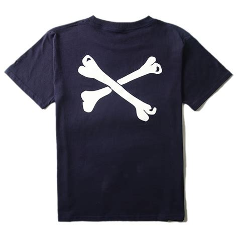 T Shirt Wtaps wtaps bone crewneck t shirt navy blue