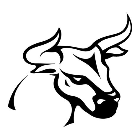 bull head in black