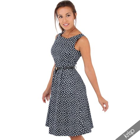 vintage swing kleider damen knielanges vintage kleid bl 252 mchen swing rockabilly