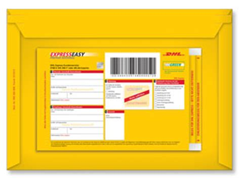 Reklamation Dhl Express Brief Dhl Expresseasy Prepaid National Versandtasche Shop Der Deutschen Post