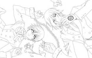 black butler coloring pages lineart kuroshitsuji by piko chan4ever on deviantart