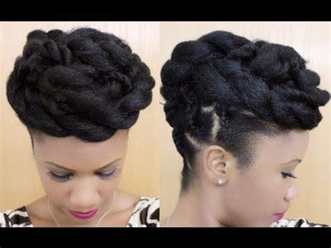 twisted goddess   updo on natural hair   @kyssmyhair youtube