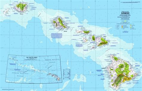 map of hi hawaii map 1976 by national geographic maps