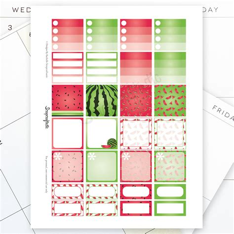 happy planner monthly printable watermelon monthly layout printable planner stickers for